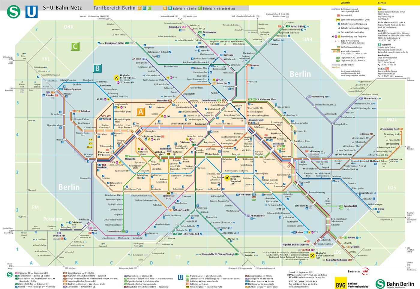 Berlin Metro Map Map Metro Berlin Germany