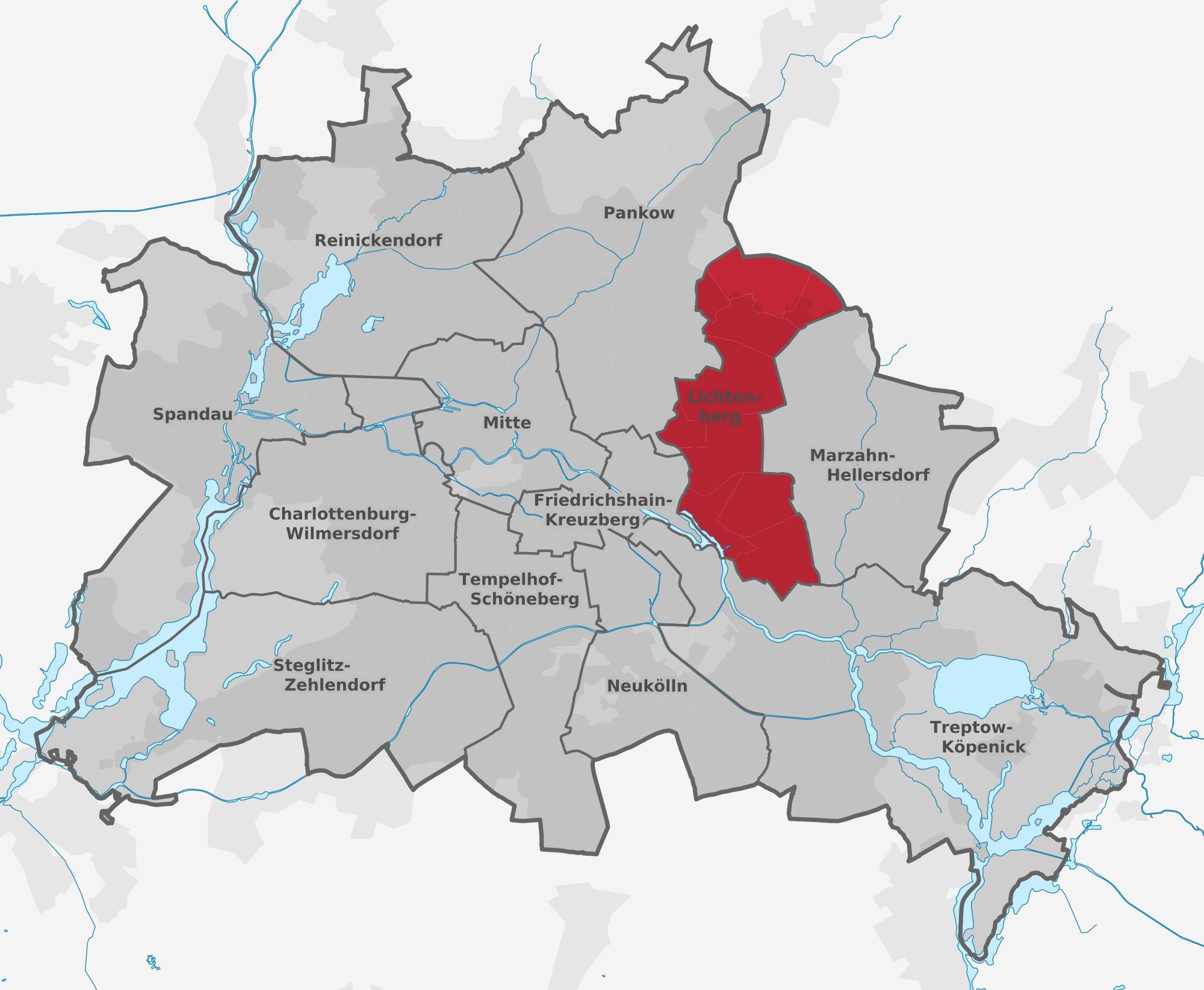Lichtenberg Berlin Map Map Of Lichtenberg Berlin Germany