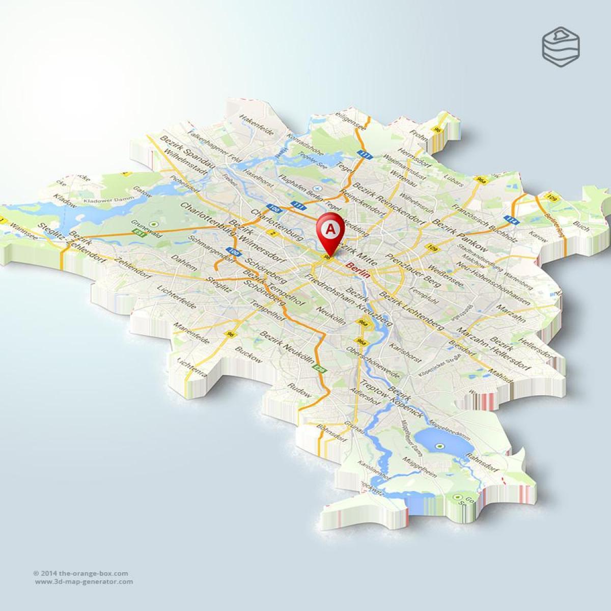 Map Of Berlin 3d (Germany