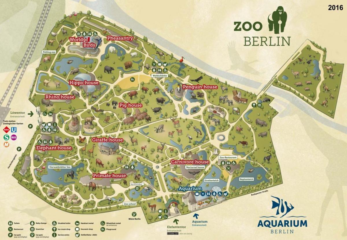 Berlin Zoo Map Map Of Berlin Zoo Germany