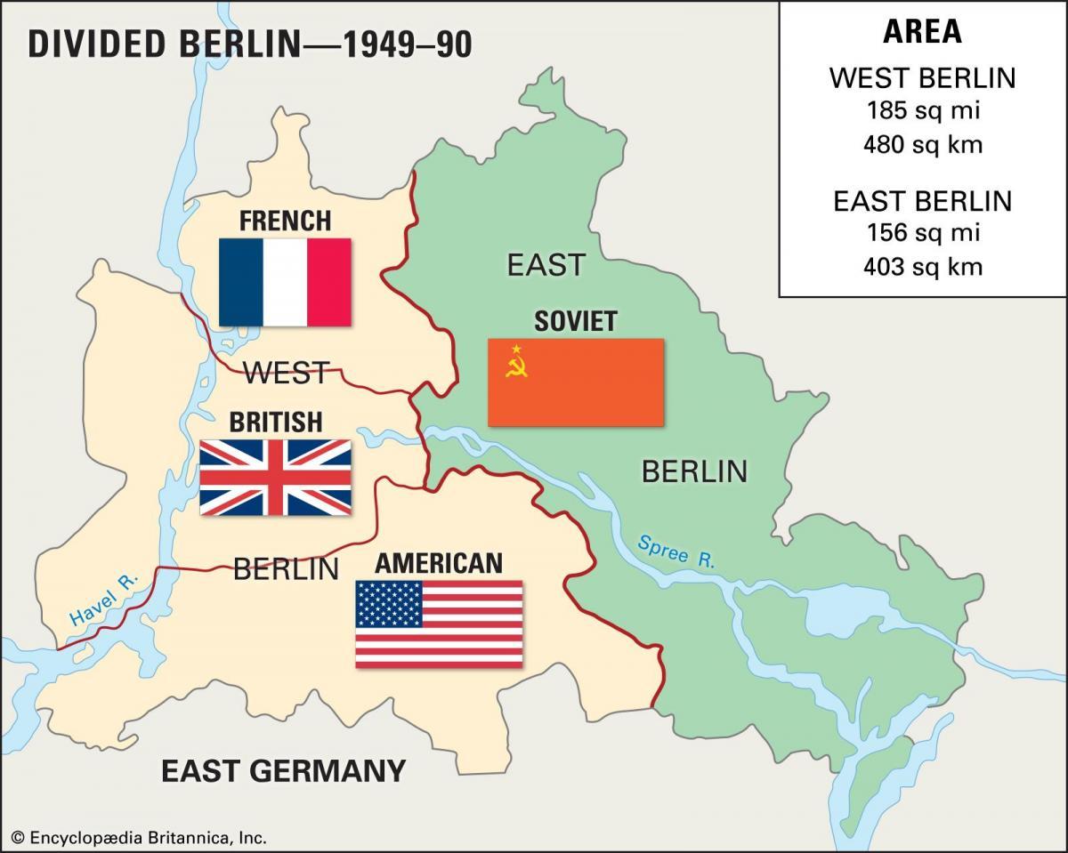 West Berlin Karte.East Berlin West Berlin Map Map Of East Berlin West Berlin Germany